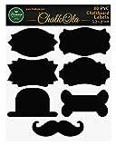 80 Kreide-Etiketten für Einweckgläser, Organisation von Küche & Speisekammer, Heimwerker Hobby - wiederverwendbare Klebesticker - 7 originelle Designs - 8,1 x 5 cm