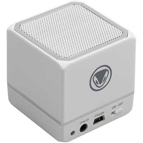 Snakebyte SB906756 - Altavoces portátiles (universal, Cubo, 40 mm, 2.5 W, 20 - 20000 Hz, Inalámbrico y alámbrico) Color blanco