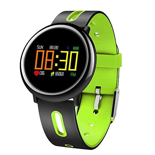 r, Smart Armband Sportuhr mit Kamera Pulsmesser Schrittzähler Schlaf Monitor Schrittzähler Kalorienzähler Smart Armband für Frauen und Männer (Farbe : Green) ()