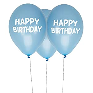 Neviti- Little Star Blue-Happy Birthday Balloons-8 Pack Globos, Color azul, 10 x 3 x 0.2 (775578)