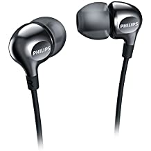 Philips Vibes SHE3700BK/00 - Auriculares in-ear (graves potentes, con 3 auriculares de goma intercambiables), color negro