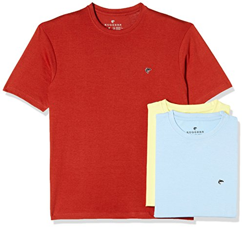 Ruggers Men's Solid Regular Fit T-Shirt (Pack of 3)(269969842_Assorted_Small)