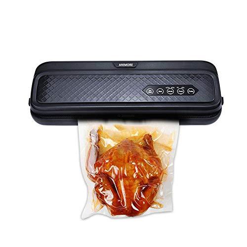 ZJH Vakuumiermaschine Haushalt Automatische Lebensmittel Vakuumiermaschine Verpackungsmaschine Automatische Lebensmittelversiegelung für Lebensmittelschoner, für die Lebensmittelkonservierung,Black
