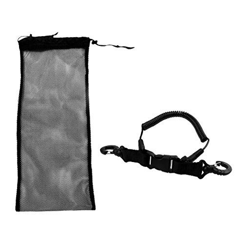 Sharplace Netztasche/Mesh Bag + Erwachsene Tauchen Spiralkabel Tauchen Schnorcheln Schwimmen Zubehör