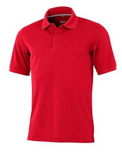 agon – Premium Herren Pique Polo-Shirt, bügelfrei, Coolmax, Coldblack, UV-Schutz, Geruchsblocker, atmungsaktiv, Kurzarm Rot 50/M