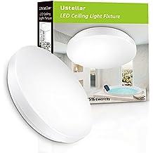 Ustellar Impermeable 12W Plafón LED Baños y Cocinas, Lámpara de Techo 950lm, Blanco 6000K, Equivalente a 100W de Incandescencia, Resistente al Agua IP44, Iluminación Salón