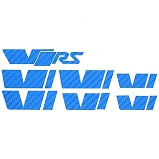 058 VRS Emblem Folien Set (Carbon Blau)