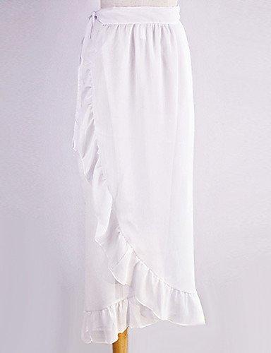 KLDDZQ da bagno donna Da donna Prendisole Con balze Solidi , white , one-size white