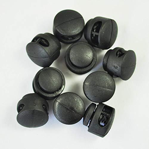 SODIAL(R) 10x fermacorda a molla a doppio foro in plastica