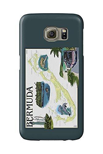 Bermuda-chart (Bermuda - Nautical Chart (Galaxy S6 Cell Phone Case, Slim Barely There))