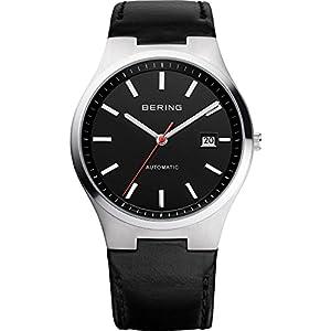 Bering 13641-404  Lederband schwarz  Herrenuhr Safirglas 5ATM Automatik