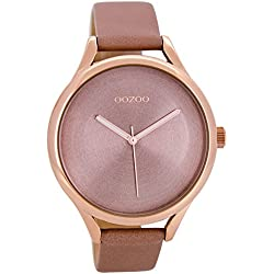 Oozoo Women's Watch with leather strap Dust Pink C8632