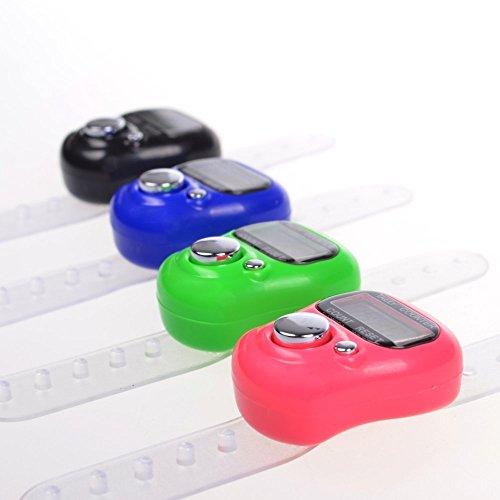 Liroyal Reihenzähler-Fingerring, elektronischer digitaler LCD-Zähler, Stichmarkierer, 8 Stück -