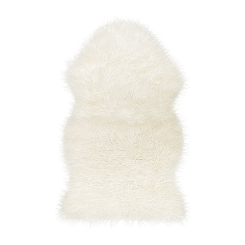 Ikea Faux Fur Sheepskin Throw Rug, Blanket, Chair Cover (White) at amazon