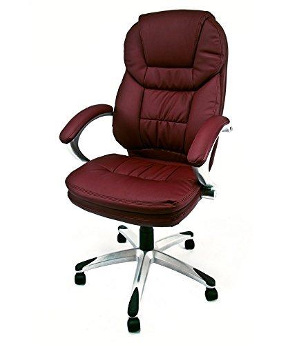 Notek srl poltrona ergonomica da ufficio e studio professionale colore bordeaux - girevole modello roger