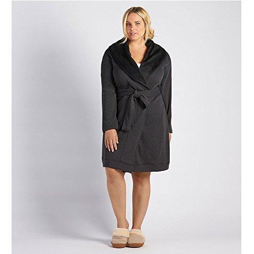 UGG Women's Plus Size Blanche Robe Black Bear Heather Robe 3X (Womens Plus Size Roben)