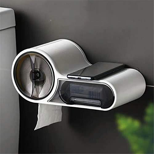 Papierhandtuchhalter für Kühlschrank mit Ablageboden, Küchenorganisator-Gestell Wird regelmäßig an Einer großen Papierhandtuchrolle befestigt und sicher auf Kühl- und Metalloberflächen befestigt -