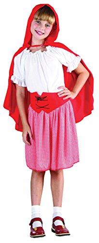 Imagen de disfraz de niña de caperucita roja. 3  5 años