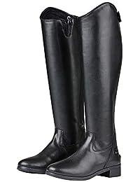 Saxon syntovia Tall Botas de Vestido, Negro