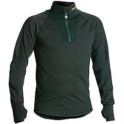 TERMO Troyer - Camiseta interior térmica (con cremallera), color verde Talla:5 (50)