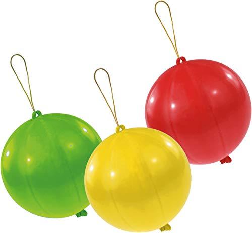 amscan INT995778 Latexballons Punch Balls, farbig Sortiert