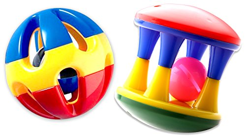 Sartham Musical Rattle Roller For Infants - Multi Color