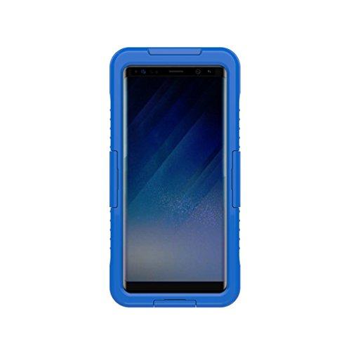 zukabmw Samsung Galaxy Note 9 Waterproof Durable Hülle zurück Hülle Schutz wasserdicht Defender Hülle Skin Protector Schutzhülle zum Samsung Galaxy Note 9 Waterproof (Blue)