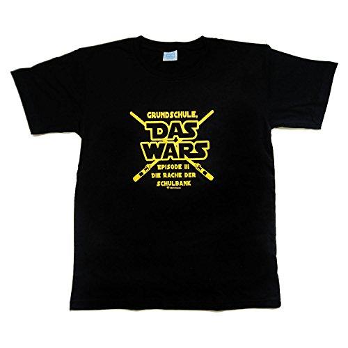 Kinder T-Shirt Das Wars Größe 164 schwarz Ende Grundschulzeit Abschlussfeier -