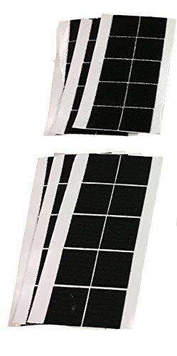 30 PAARE 40x40mm KLETTBAND Stücke SELBSTKLEBEND Aufkleber - 30 Haken & 30 Flausch Klettstücke Quadrate - Praktisch & Nützlich im Haushalt, Werkstatt, Bau usw. Set SCHWARZ oder WEISS (Schwarz)