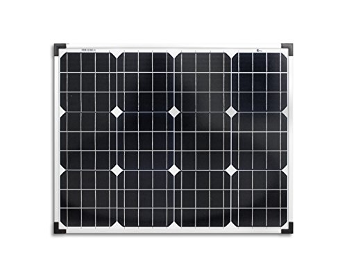 enjoysolar® Monokristallin 50Watt 12V Solarmodul Solarpanel Mono 50W ideal für Garten Wohnmobil Caravan (12v 50w Panel Solar)
