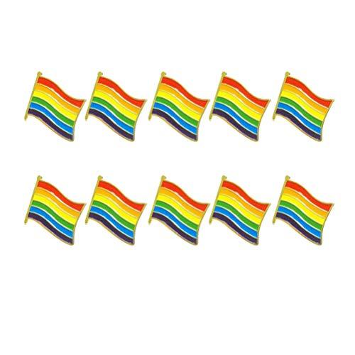 ow Flag Brosche Eisen Kleidung Dekor für Gay Pride Gathering Party ()