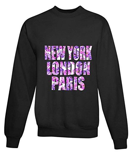 Billion Group | Big Cities | City Collection | Women's Unisex Sweatshirt Noir