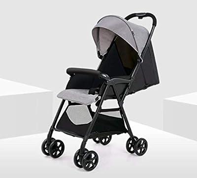 Cochecito de bebé Plegable Trolley portátil Rueda grande Umberlla Mini Stollers livianos con toldo ajustable, cesta de almacenamiento