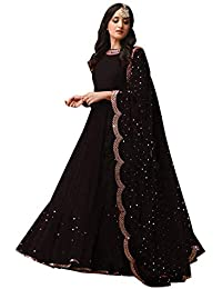 e55cbc7fa57 Amazon.in  Georgette - Salwar Suits   Ethnic Wear  Clothing ...