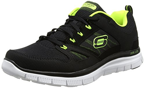 Skechers Flex Advantage, Zapatillas De Deporte Hombre, Negro (Black/Lime), 42 EU(8 UK)