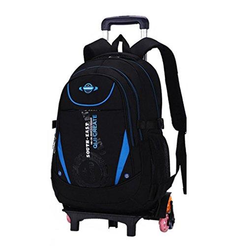 Trolley Schultaschen Rucksack Rolling Rucksäcke Kinder Schultasche mit sechs Rädern Klettern Treppen ()
