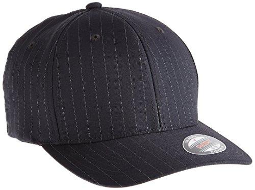 Flexfit - Cappello snapback, da adulto, modello gessato, Multicolore (Darkgrey/Wht), L / XL