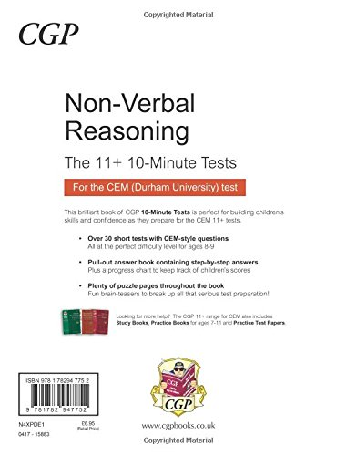 10-Minute Tests for 11+ Non-Verbal Reasoning Ages 8-9 - CEM Test