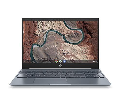 HP Chromebook 15-de0000ng (15,6 Zoll / Full HD) Laptop (Google Chrome OS, 18 mm flach, Aluminium Gehäuse, lange Akkulaufzeit, 2 x USB C) weiß