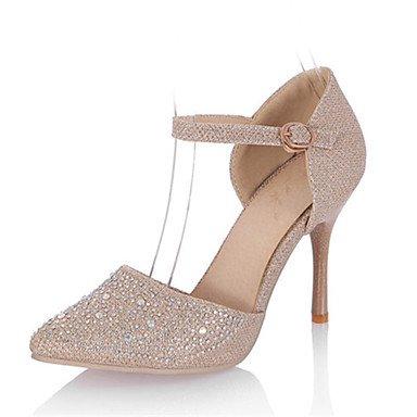 Moda Donna Sandali Sexy donna tacchi primavera / estate / Materiale personalizzato Wedding / Party & sera abito / Stiletto HeelSparkling golden