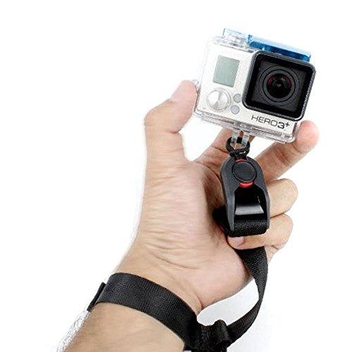 SHOOT® Quick Release Kamera Handschlaufe für GOPRO Hero 1/2/3/3+/4/5/4 Session/5 Session und XiaoYI Xiaomi - Schwarz Point-and-shoot-kamera