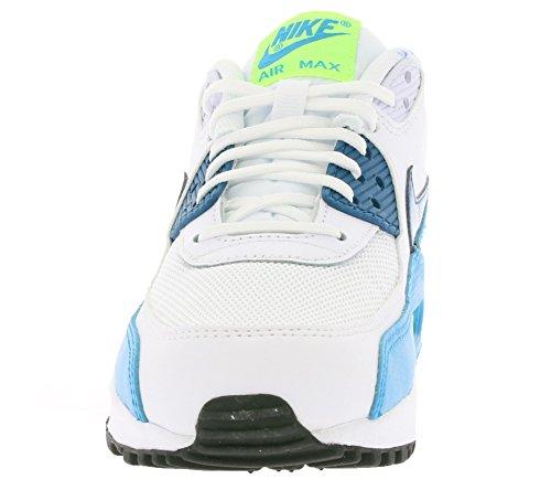 Nike Air Max 90 Essential, Sneakers Basses femme Blanco (White / Green Abyss-Blue Lagoonn)