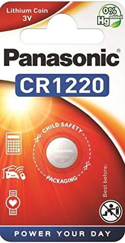 Panasonic CR1220 Lithium-Knopfzelle (3V, Blisterverpackung) 2 Stück
