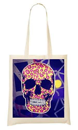 ToteWorld Ready Halloween Horror Collection Skull Bones Jaguar Pattern In Tragetasche Einkaufstasche
