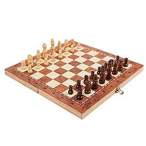 YBWEN-Chess Internationales Schachspiel Magnetisches Reiseschachspiel for Erwachsene Kinder, das tragbares…