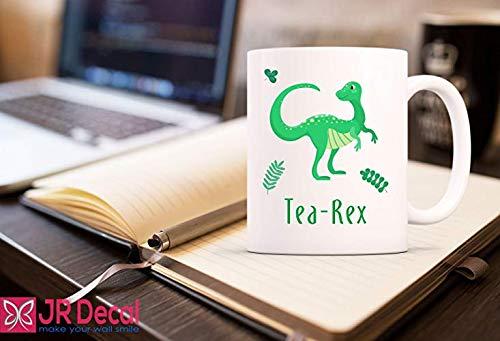 Tea-Rex lustige gedruckte Kaffeetasse, Neuheit Geschenk Morgen Tee Becher, Büro Becher, Arbeit Becher, Party Becher, Geburtstag Becher, inspirierende Tassen, lustige Becher, Reisebecher