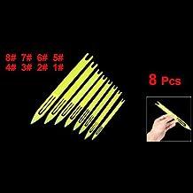TOOGOO (R) 8 x Aguja Lanzaderas de Plastico Amarillo para Reparacion de Red Sedal