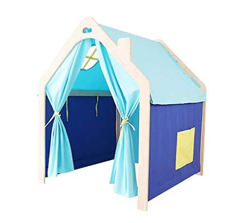 Spielzelt Kinder aus Holz zusammengebaut wachsen Zelte (Color : Blue)
