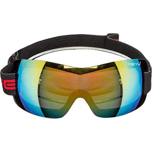 WOOOOZY Brille Skifahrer mit verspiegelten Gläsern