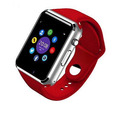 LIANHUAJIEDAO Lemumu Bluetooth Smart Watch W8 Armbanduhr Sport Schrittzähler SIM-Karte Smar twatch für Ios und für Android Smartphone, Rot